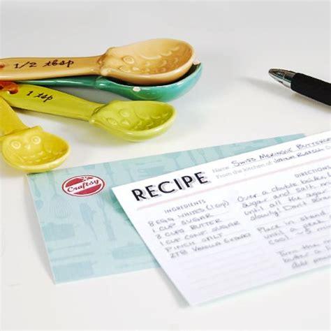 homemade recipe cards  printables  craftsy