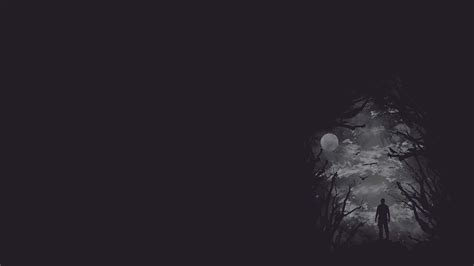 minimalistic darkness desktop pc  mac wallpaper