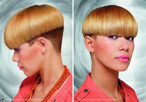 Very Short Hairstyle With A Rounded Top And Undercut Sides