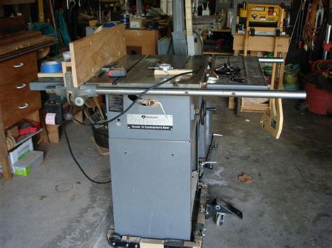 rockwell model 9 table saw 12 quot rockwell contractors table saw by madts
