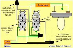 How To Wire A Light Switch And Outlet Combo Diagram
