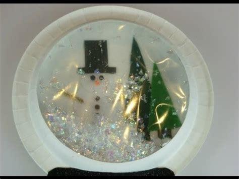 paper plate snow globe youtube