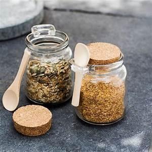 Boite à épices : pot pices en verre et li ge avec cuill re 250 ml set de 2 decoclico ~ Teatrodelosmanantiales.com Idées de Décoration