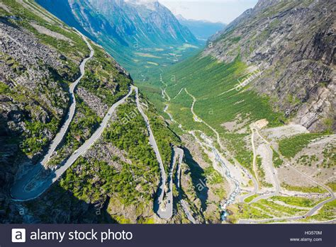 Trollstigen Near Andalsnes Norway Scandinavia Europe