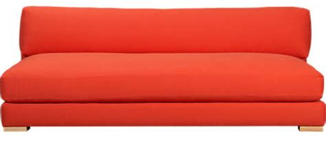 piazza persimmon sofa modern sofas by cb2