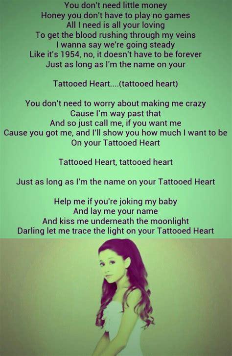 tattooed heart ariana grande  love  song pretty