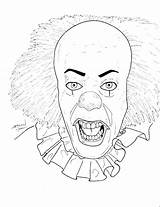 Clown Killer Coloring Pages Printable Scary Getdrawings Print Getcolorings sketch template