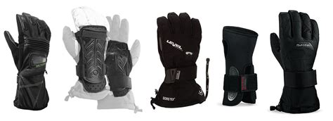 snowboard ski gloves  wrist guards protect  wrists