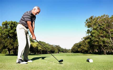 golf playing cta osteoarthritis tee mature ready advice shot living