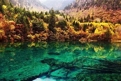 China Jiuzhaigou Lake National Park Turquoise Crystalline