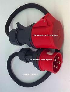 H07rn F 5g2 5 : cee adapter starkstrom 16 a stecker auf 32 a kupplung 1 mtr h07rn f 5g2 5 ebay ~ Watch28wear.com Haus und Dekorationen