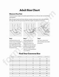 Size Chart Feet Converse Sizing Printable Pdf Download