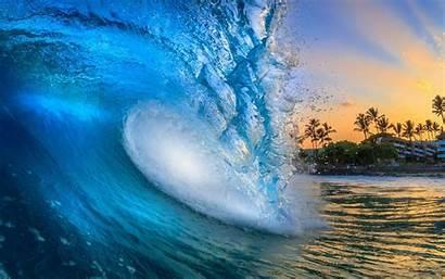 Waves Hawaii Water Beach Sun Sunrise Desktop