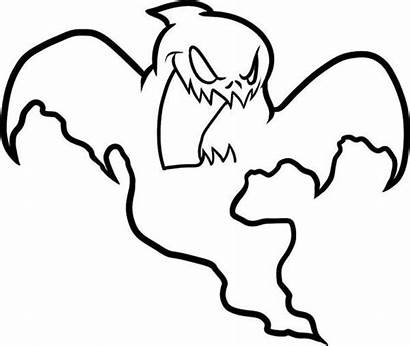 Ghost Coloring Pages Drawing Halloween Scary Ghostbusters