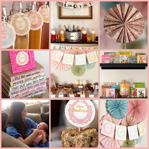 sip and see menu ideas vintage storybook sip n see shower
