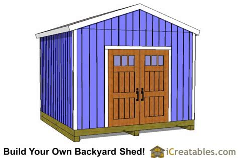 Free 12x12 Shed Plans by 12x12 Shed Plans Build Your Own Storage Lean To Or