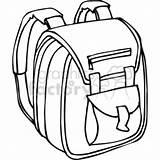 Backpack Clipart Outline Bag Cartoon Drawing Clip Straps Open Padded Pencil Case Bw Clipartmag Royalty Svg Cliparts Vector sketch template