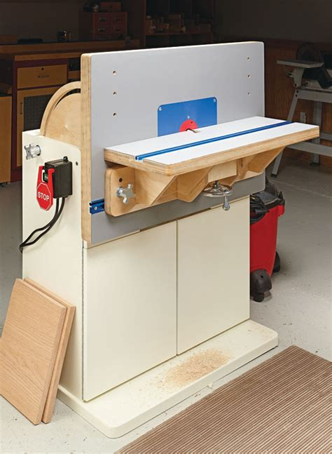 combination router table woodworking project woodsmith