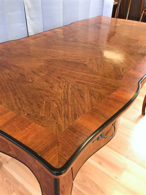 bureau style louis 15 20th century louis xv style burl wood bureau plat