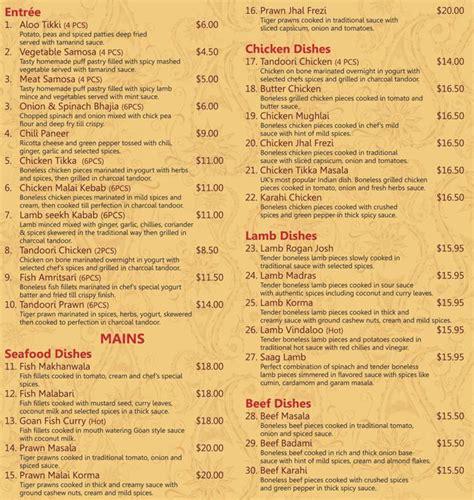 indian cuisine menu rasoi indian restaurant menu menu for rasoi indian restaurant osborne park perth urbanspoon