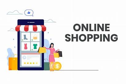 Shopping Happy Vector Woman Clipart Graphics Resources