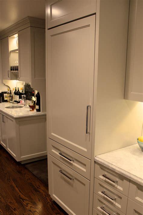 panel ready ge monogram  refrigerator   kitchen  pinterest kitchen