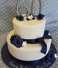 2 Tier 60th Birthday Cake