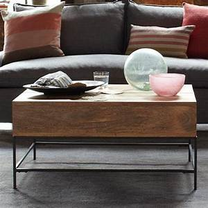 Rustic storage coffee table raw mango west elm for West elm raw mango coffee table