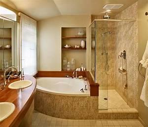 Corner Bathtub Shower Bathroom Contemporary With None