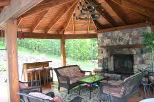 Outdoor Gazebo with Fireplace