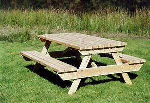 Table Jardin En Bois : table banc jardin bois table de lit ~ Teatrodelosmanantiales.com Idées de Décoration