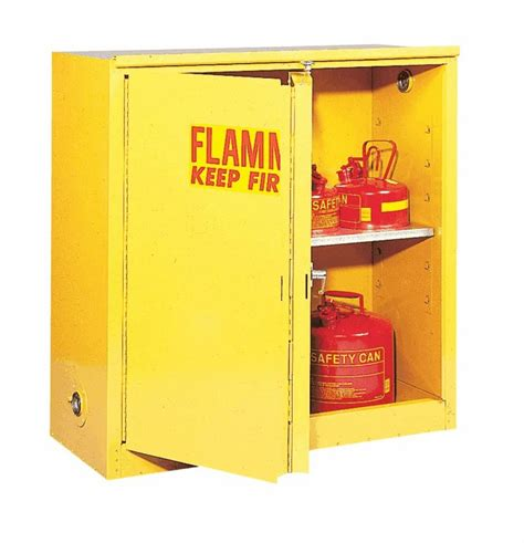 flammable storage cabinet self closing doors 30 gallon