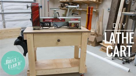 diy lathe cart  xs woodworking   youtube