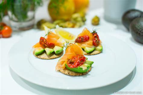 healthy canape ideas fitness on toast