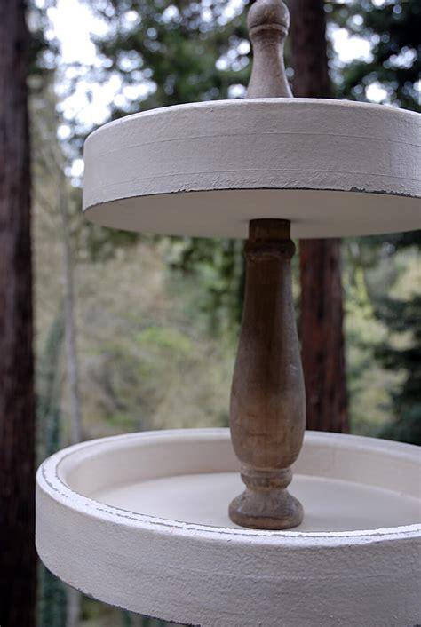 tier wood dessert stand