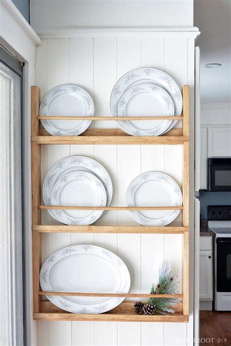 fabulous diy farmhouse plate racks    plates  wall diy kitchen accessories plate