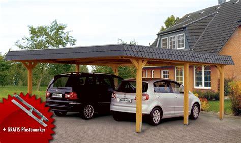 Holzcarport Skanholz «wendland» Walmdach Doppelcarport