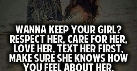 Wanna Keep Your Girl, Respect Her