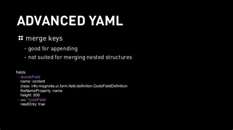 config template yaml the slick yaml based configuration by file in magnolia 5 4