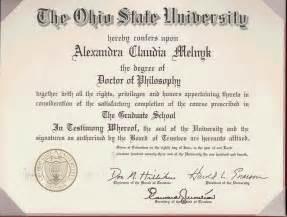 Ohio State University PhD Diploma