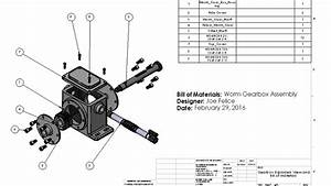 Gearbox Motion Study And Drawings