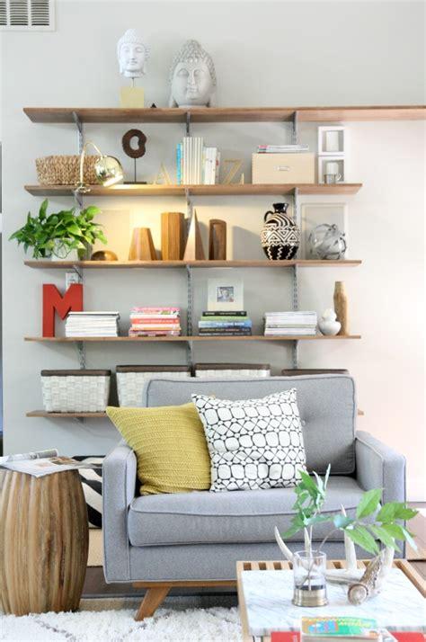 shelves   living room