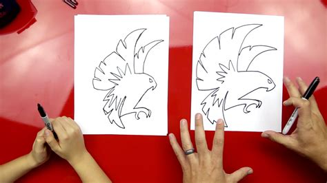 draw  falcon art  kids hub