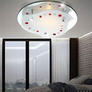 Led Beleuchtung Wohnzimmer : 7w led deckenlampe beleuchtung wohnzimmer dekor rot klar chrom leuchte kaufen bei ~ Buech-reservation.com Haus und Dekorationen