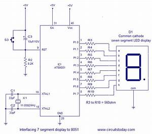 Interfacing Seven  7  Segment Display  Led  To 8051 Micro Controller