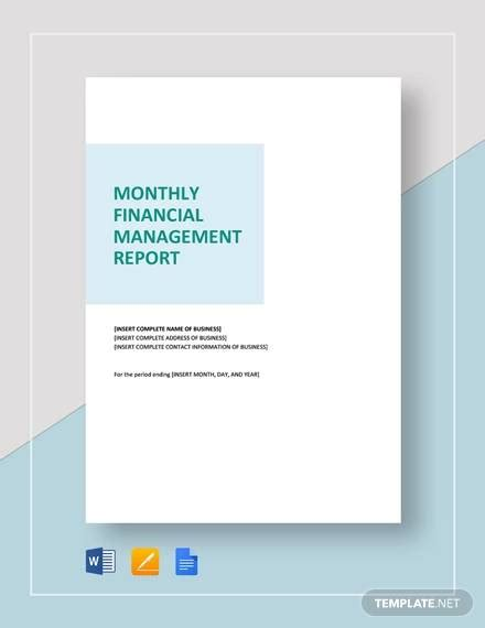monthly report templates   ms word adobe
