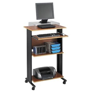 stand up computer desk on wheels tall stand up computer cart stand computer desk