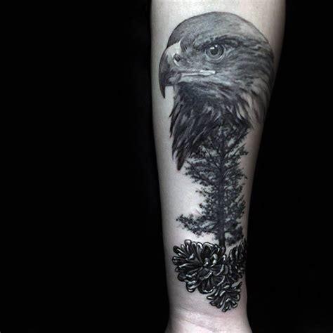 pine cone tattoo designs  men evergreen ink ideas