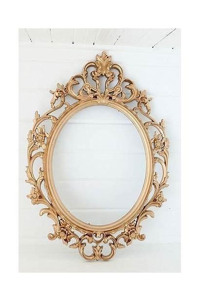 Mirror Gold Antique Frame Frames Tattoo Oval