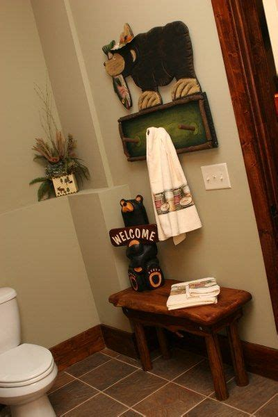 bear bathroom decor mom loves  towel rack  cute   home pinterest bathrooms